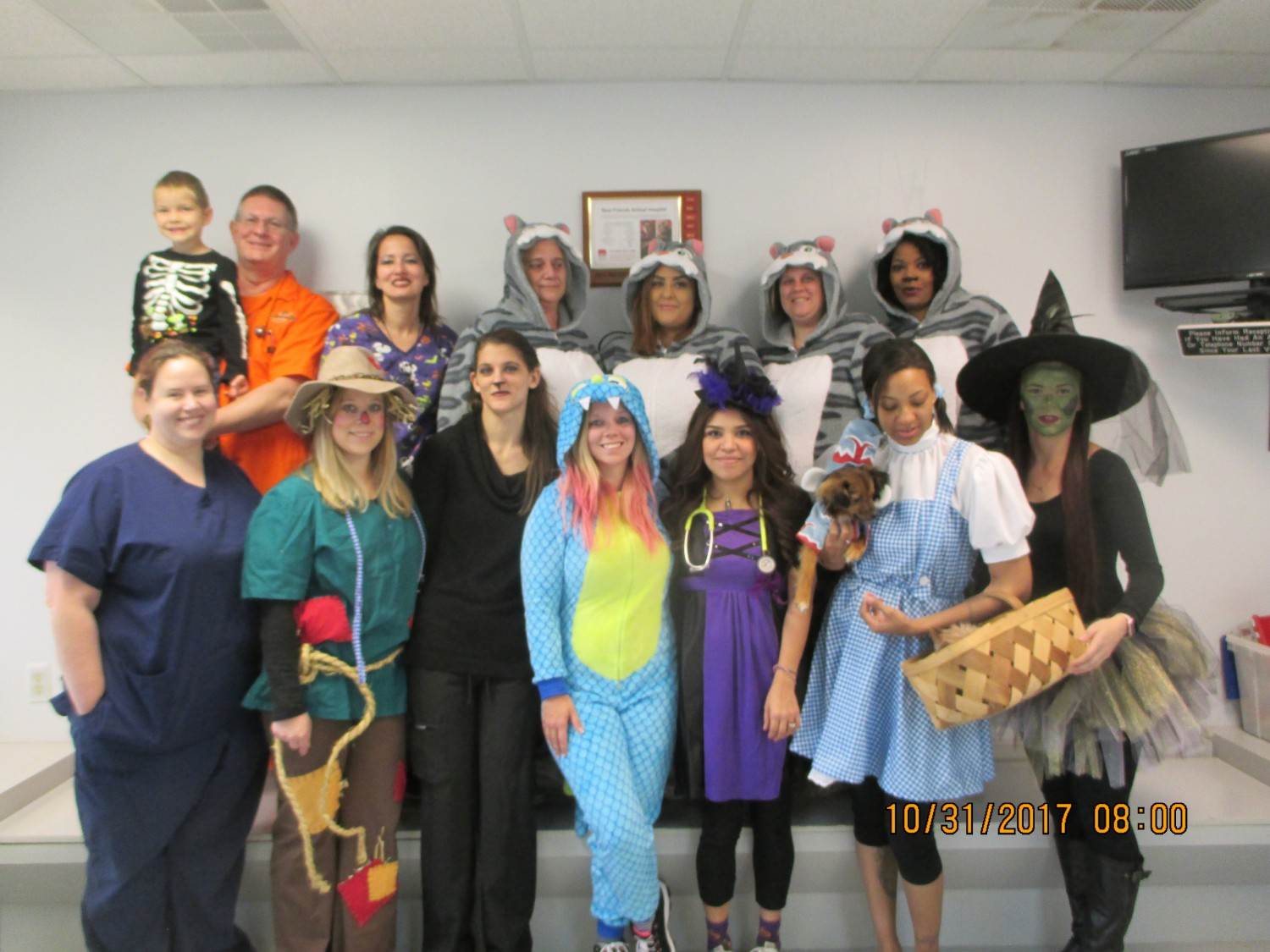 Staff on Halloween